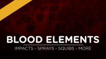 مجموعه فوتیج ویدیویی خون Blood Elements
