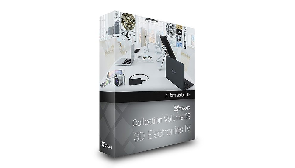 مجموعه مدل سه بعدی وسایل الکترونیکی CGAxis Models 59 Electronics IV