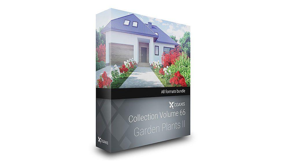 مجموعه مدل سه بعدی گیاهان باغچه CGAxis Models 66 Garden Plants II