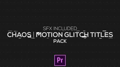 پروژه پریمیر موشن عناوین با افکت گلیچ Chaos Motion Glitch Titles