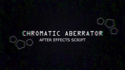 اسکریپت افترافکت Chromatic Aberrator ابزار ساخت اعوجاج بصری