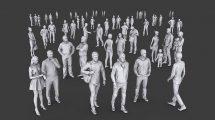 مجموعه مدل سه بعدی انسان Complete Lowpoly People Pack Vol 1