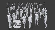 مجموعه مدل سه بعدی انسان Complete Lowpoly People Pack Vol 2
