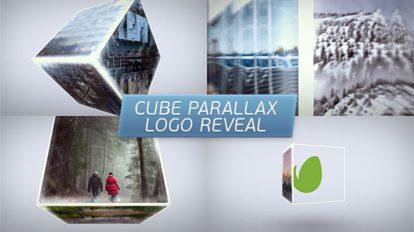 پروژه افترافکت نمایش لوگو پارالکس مکعبی Cube Parallax Logo Reveal