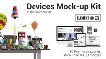 پروژه افترافکت تیزر تبلیغاتی با موکاپ تجهیزات هوشمند Devices Mock-Up Kit