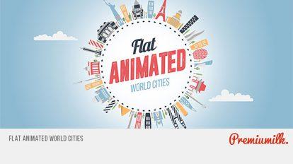 پروژه افترافکت انیمیشن فلت شهرهای جهان Flat Animated World Cities