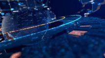 ویدیوی موشن گرافیک زمینه خبری هایتک Hi-Tech TV News Background