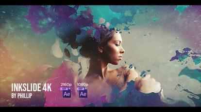 پروژه افترافکت نمایش اسلاید با پخش جوهر Inkslide 4k