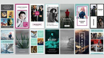 پروژه افترافکت مجموعه استوری اینستاگرام Instagram Stories Minimal Pack