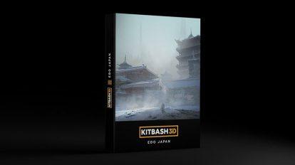 مدل سه بعدی محیط بناهای ژاپنی Kitbash3D Edo Japan