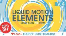 پروژه افترافکت مجموعه موشن سیال Liquid Motion Elements