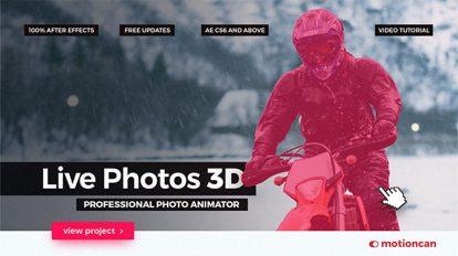 پروژه افترافکت متحرک سازی سه بعدی عکس Live Photos 3D