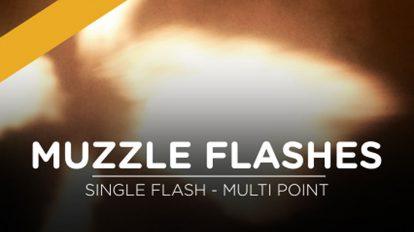 مجموعه فوتیج ویدیویی فلش شلیک گلوله Muzzle Flashes