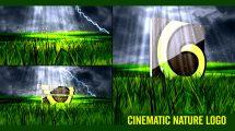 پروژه افترافکت نمایش لوگو در طبیعت Nature Logo Cinematic