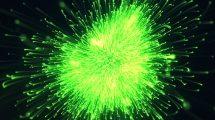 پروژه افترافکت نمایش لوگو با انفجار پارتیکلی Particle Burst Logo
