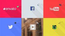پروژه افترافکت نمایش لوگو فلت ساده و سریع Quick & Simple Flat Logo