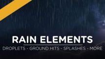 مجموعه فوتیج ویدیویی باران Rain Elements