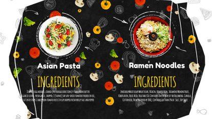 پروژه افترافکت تیزر تبلیغاتی منوی رستوران Recipes Menu Slideshow
