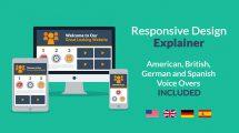 پروژه افترافکت تیزر تبلیغاتی طراحی ریسپانسیو Responsive Design Explainer
