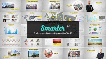 پروژه افترافکت پرزنتیشن اینفوگرافیک شرکتی Smarter Business Presentation