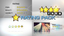 پروژه افترافکت انیمیشن ستاره امتیاز Star Rating Pack