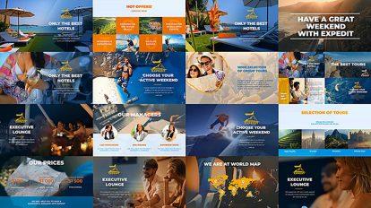 پروژه افترافکت تیزر تبلیغاتی آژانس مسافرتی Travel Agency Promo