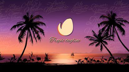 پروژه افترافکت نمایش لوگو در غروب استوایی Tropical Sunset Opener