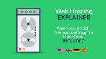 پروژه افترافکت تیزر تبلیغاتی هاستینگ وب Web Hosting Explainer