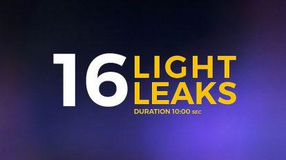 ویدیوی موشن گرافیک 16 افکت نشتی نور Light Leaks Pack