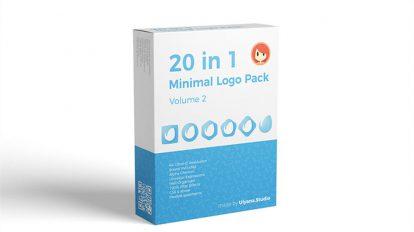 پروژه افترافکت مجموعه نمایش لوگو مینیمال 20in1 Minimal Logo Pack