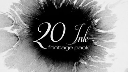 مجموعه 20 فوتیج ویدیویی پخش جوهر مرکب