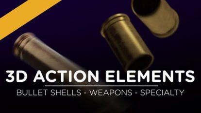 مجموعه فوتیج ویدیویی المان اکشن 3D Action Elements