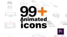 پروژه پریمیر مجموعه 99 انیمیشن آیکون Animated Icons