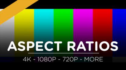 مجموعه تصاویر نوار نسبت ابعاد فیلم Aspect Ratio Bars