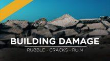 مجموعه تصاویر تخریب و آوار ساختمان Building Damage Effects Pack