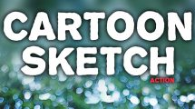 اکشن فتوشاپ افکت اسکچ کارتونی Cartoon Sketch Action 3