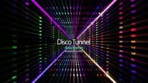 مجموعه ویدیوی موشن گرافیک تونل نورهای رنگی Disco Tunnel
