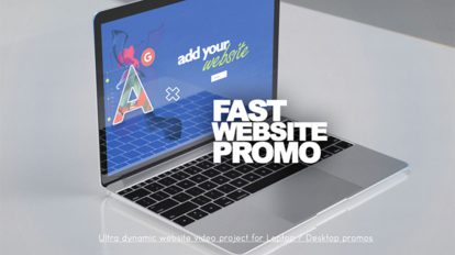 پروژه افترافکت تیزر تبلیغاتی وبسایت Fast Website Promo