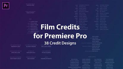 پروژه پریمیر موشن عناوین فیلم Film Credits Kit
