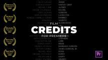 پروژه پریمیر نمایش عناوین فیلم Film Credits
