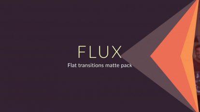 پروژه افترافکت مجموعه ترانزیشن فلت Flux Flat Transitions Matte Pack