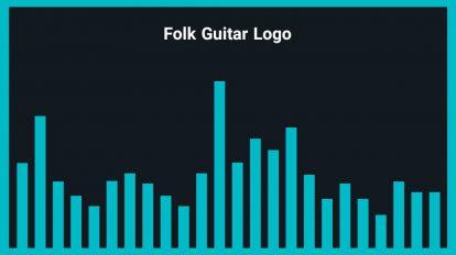 موزیک زمینه لوگو با گیتار Folk Guitar Logo