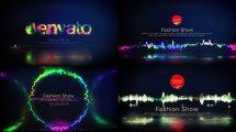 پروژه افترافکت ویژوالایزر موزیک Glitch Music Visualizer
