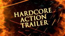 پروژه افترافکت تریلر اکشن Hardcore Action Trailer