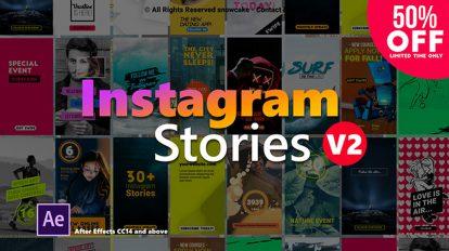 پروژه افترافکت استوری اینستاگرام Instagram Stories 2