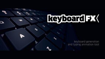 پلاگین افترافکت Keyboard FX ابزار سفارشی کردن صفحه کلید برای ساخت انیمیشن