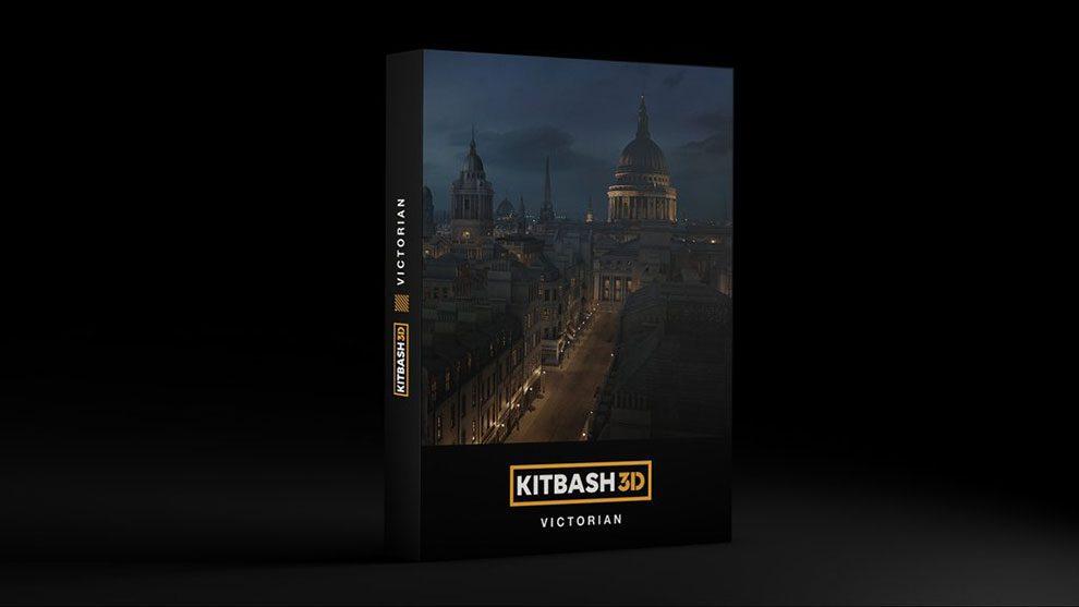 مجموعه مدل سه بعدی بناهای سلطنتی Kitbash3D Victorian