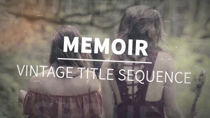 پروژه افترافکت نمایش عناوین Memoir Vintage Title Sequence