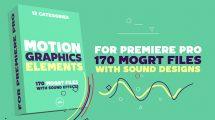پروژه پریمیر مجموعه اجزای موشن Motion Graphics Elements Pack