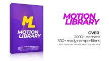 پروژه افترافکت اجزای موشن برای ویدیو Motion Library Pack
